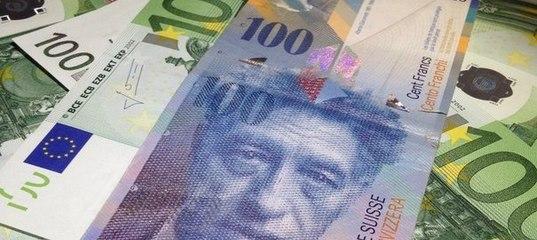 Падение евро к франку