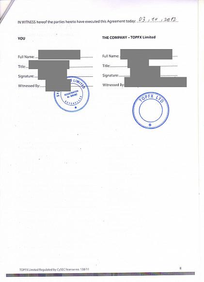 Договор с поставщиком ликвидности TOPFX, Weltrade, велтрейд