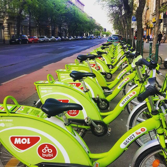 Велосипеды MOL в Будапеште
