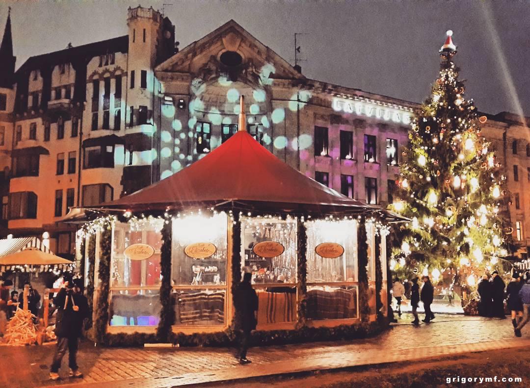Рига, Латвия, Домская площадь, Doma laukums, старый город