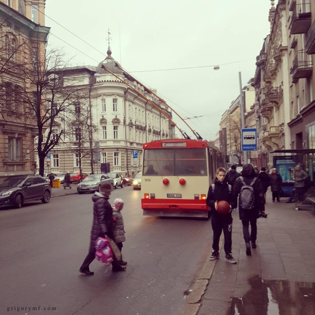 Троллейбусы в Литве, вильнюс.