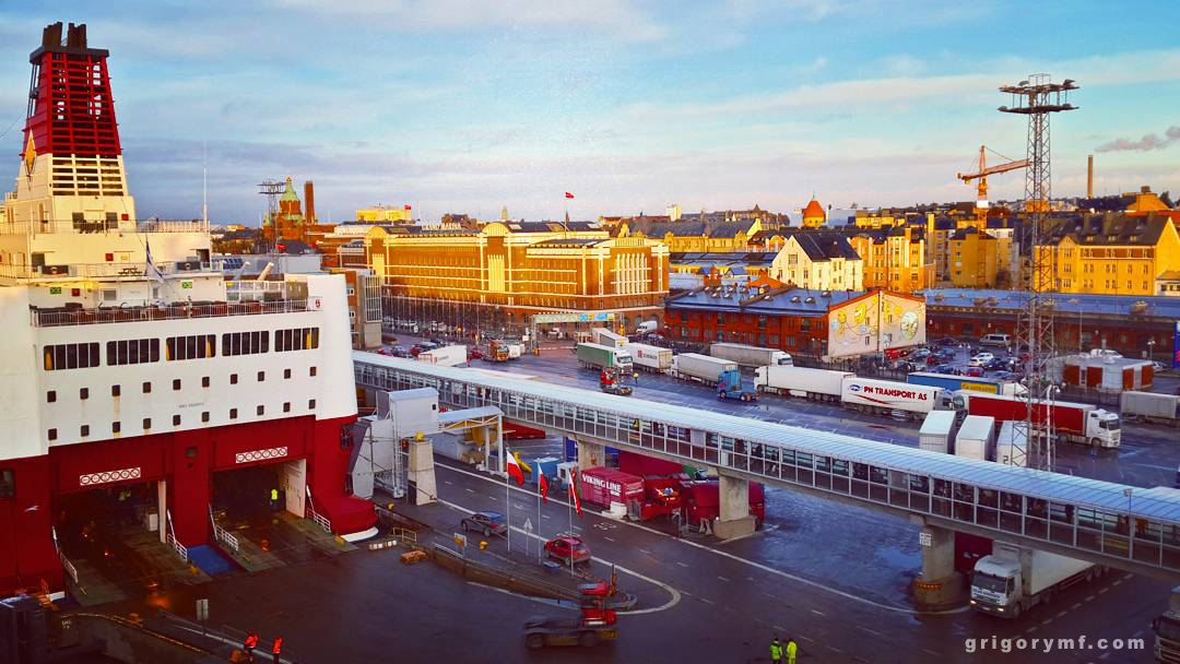 katajanokka terminal viking line, порт хельсинки, корабли, паромы, евротур