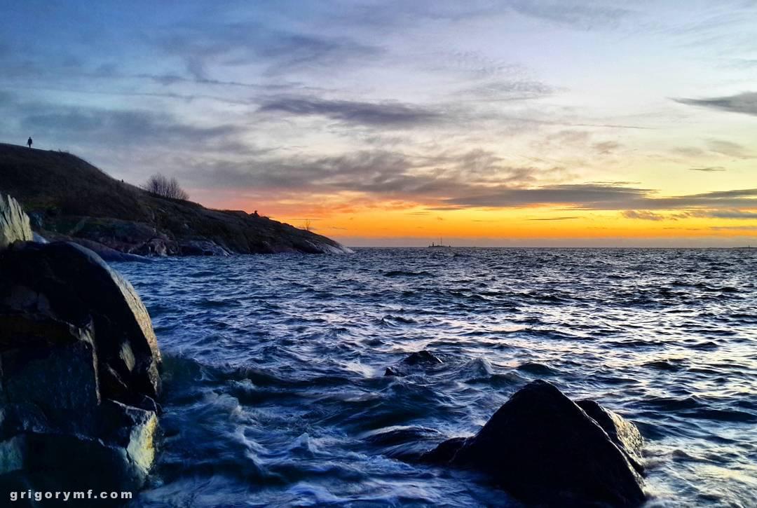 Baltic sea, Балтийское море, закат, остров, европа, Хельсинки, Соуменлинна
