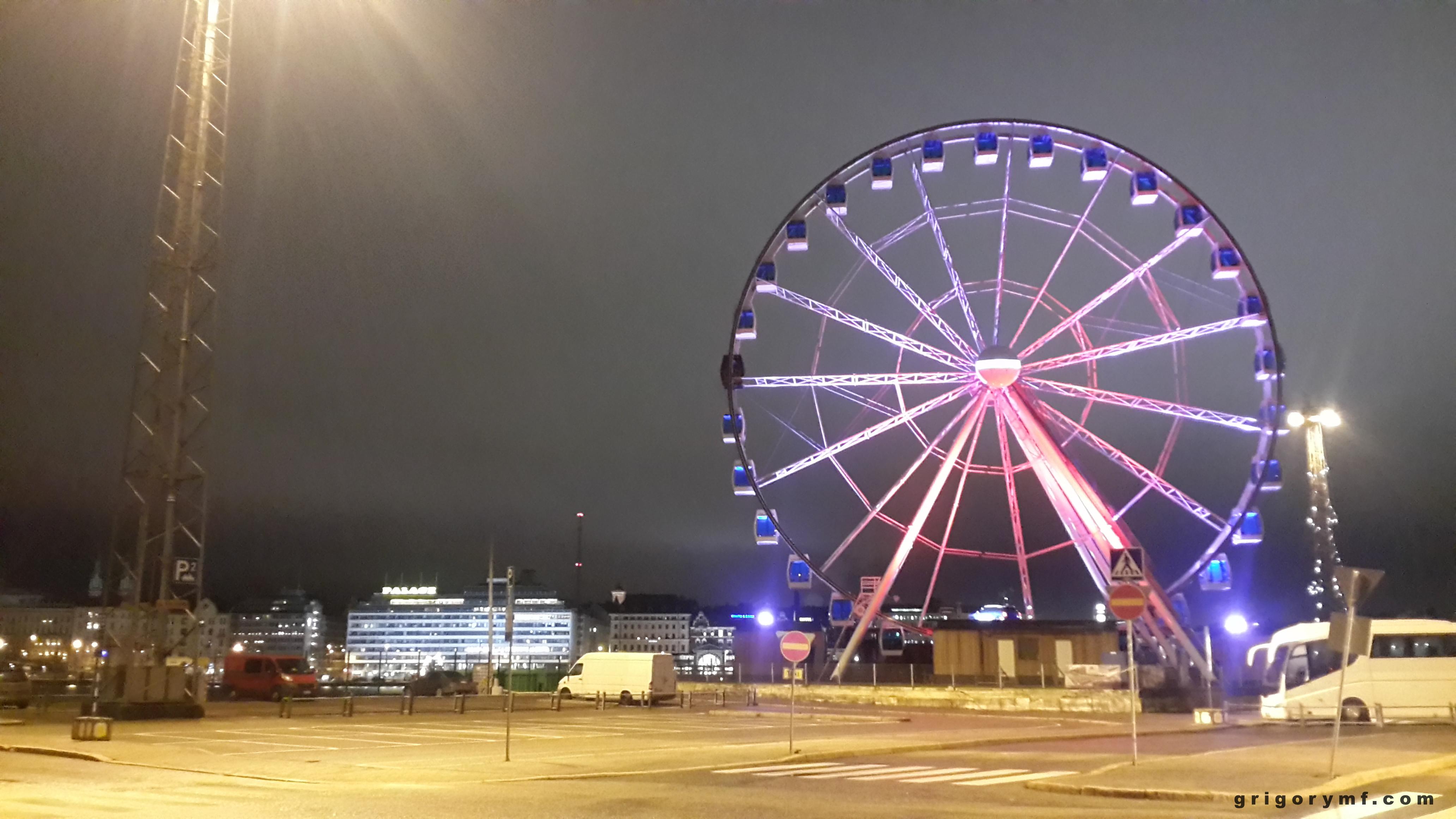 Колесо обозрения в порту Хельсинки, Финляндия, Хельсинки, Европа, путешествие по европе