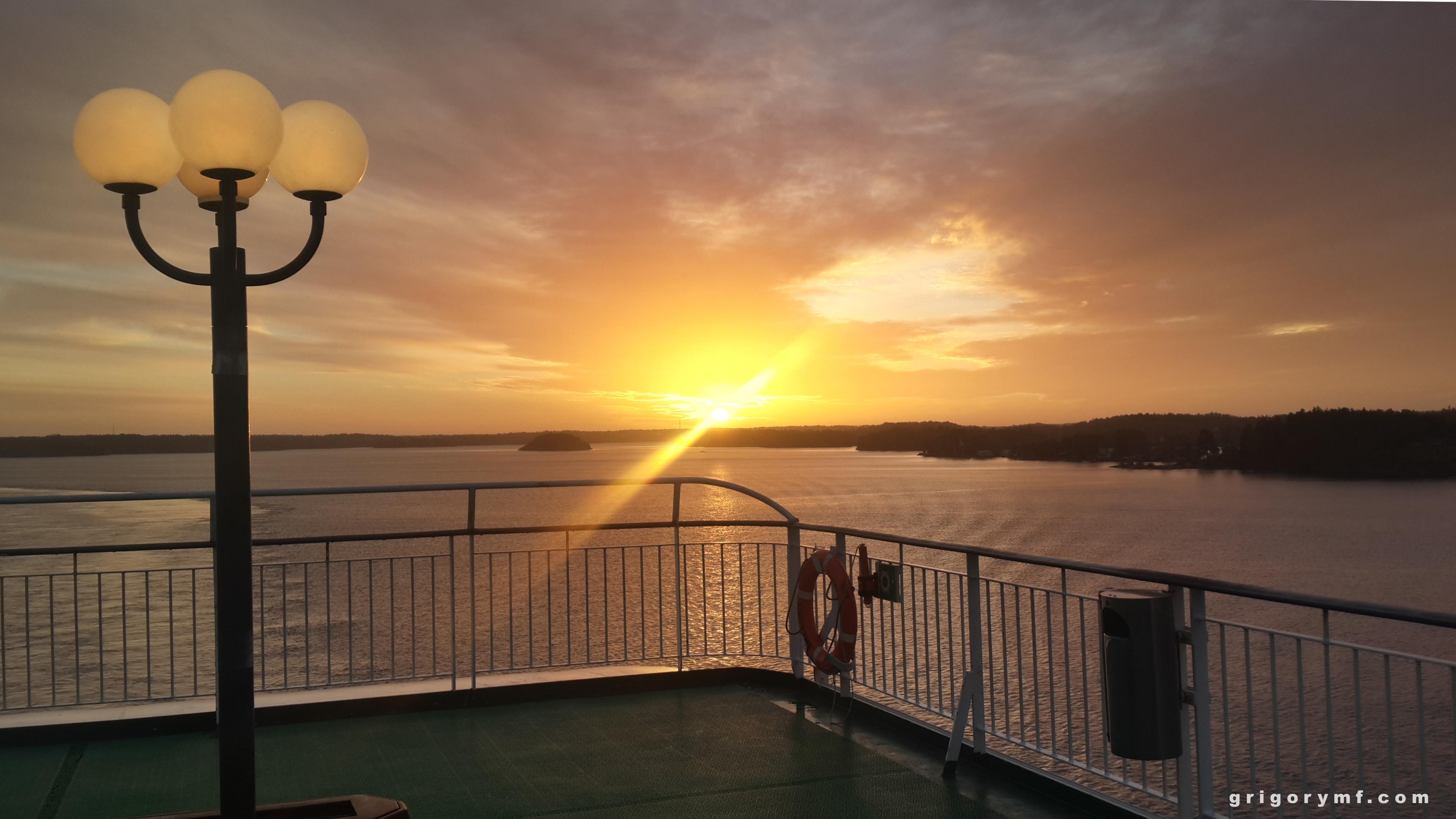 Восход солнца в Швеции, путешествие по европе,