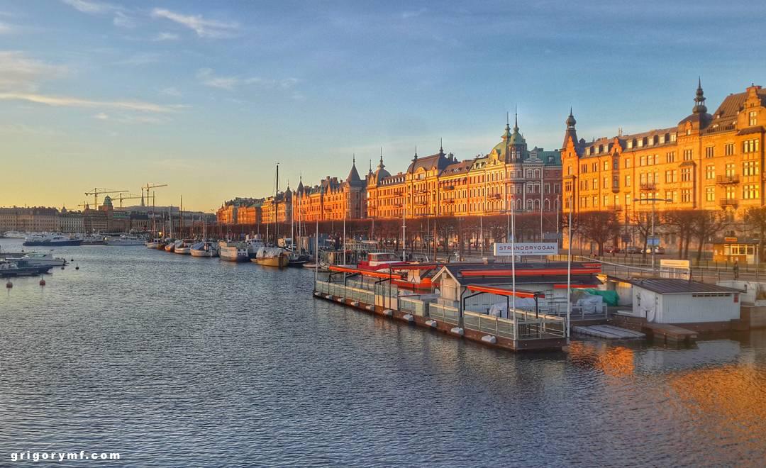 Стокгольм, закат, Швеция, Sweden, Stockholm, europe, европа, путешествие по европе
